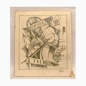 Werbeplakat von Phonograph Co. Frères
