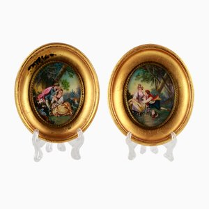 Painted Miniatures, Set of 2