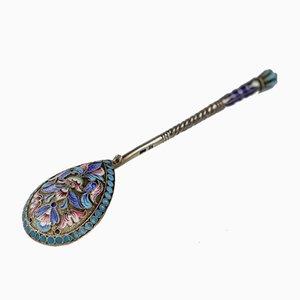 Russian Silver & Enamel Teaspoon