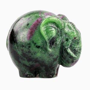 Carved Elephant Figure