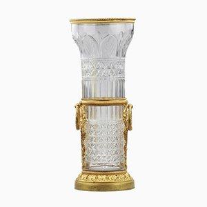 Crystal & Bronze Vase