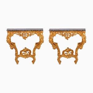 Rococo Console Tables, Set of 2