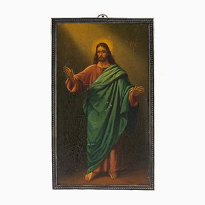 Russian Icon Depicting Christ Pantocrator in Full Body
