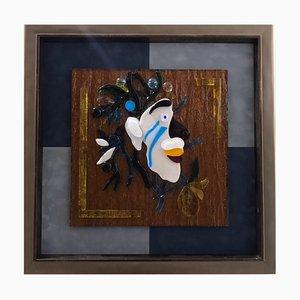 Collage in vetro 'Inverno' di Anatoly Grishchenko
