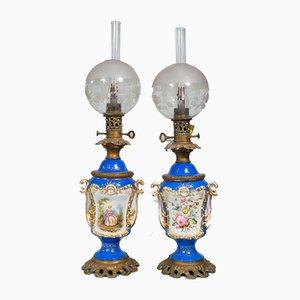 Kerosene Lamps, Set of 2