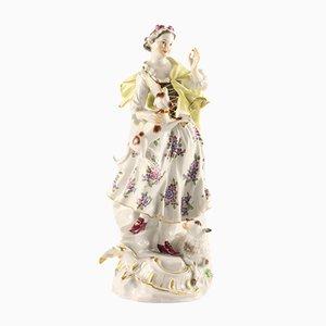 Porcelain Shepherdess Figurine