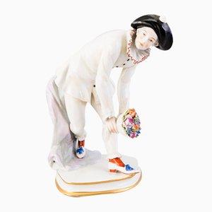 Porcelain Pierrot Figurine