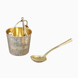 Teaspoon and Tea Strainer, Set of 2