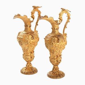 Vergoldete Krüge, 1800er, 2er Set