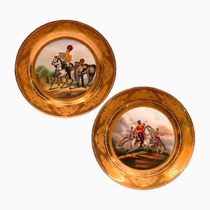 Soldier of the Russian Army Plates, 19th Century, Set of 2
