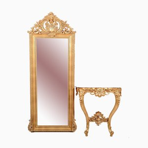 Mirror with Console, Set of 2