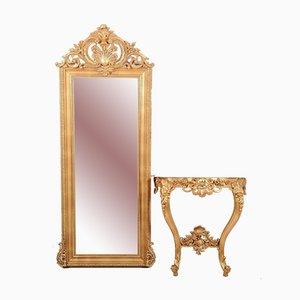 Specchio con consolle, set di 2