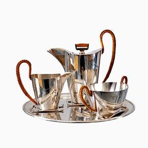 Juego de café bañado en plata de Argentor Vienna