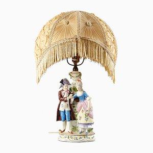 Lady und Cavalier Tischlampe