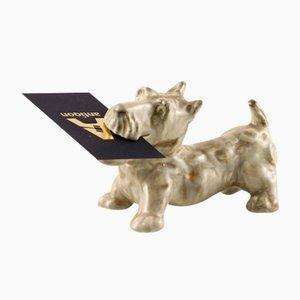 Faience Figurine of Scotch Terrier