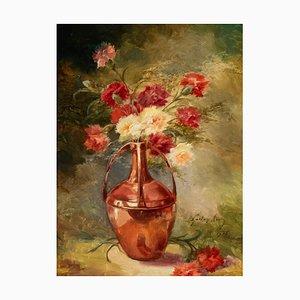 Tríptico sobre lienzo, Still Natures, Gaston Noury, 1935. Juego de 3