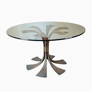 Wrought Brass Dining Table by Luciano Frigerio.