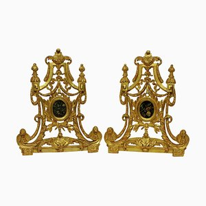 Große barocke Reliquiarrahmen aus vergoldetem Holz, 18. Jh., 2er Set