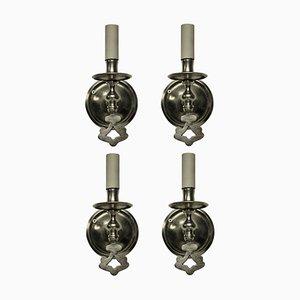 Applique antiche in argento, set di 4