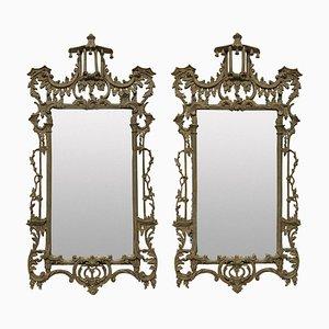 Miroirs Chippendale Revival, 1930s, Set de 2