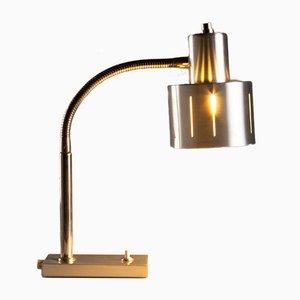 Lámpara de escritorio cuello de ganso de aluminio de Vitrika, Denmark, años 60