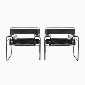 Vintage Wassily Chair von Marcel Breuer für Knoll International, 1960er, 2er Set