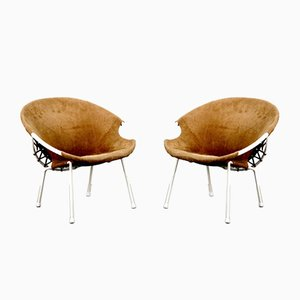 Vintage Balloon Chairs from Lusch & Co, Set of 2