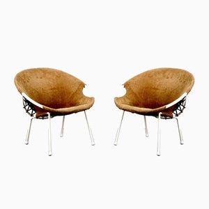 Vintage Balloon Chairs von Lusch & Co, 2er Set