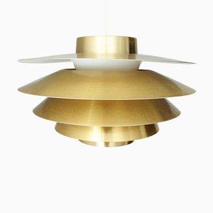 Verona Brass Pendant Lamp with Gold Finish by Svend Middelbo for Nordic Solar, Denmark