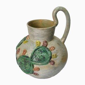 Vase aus Terrakotta mit Chumbera Glasur von Dolores Porras, Mexiko, 1980er