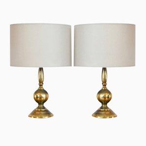 Lámparas de mesa de latón, años 60. Juego de 2