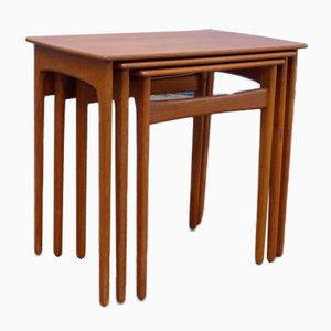 Dänische Modell 13 Tische in Teak-Optik, 1960er, 3er Set