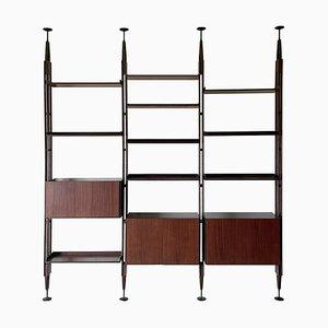 Libreria modulare LB7 in palissandro di Franco Albini per Poggi, 1957, set di 3