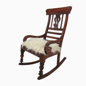 Englischer Schaukelstuhl aus Holz, 19. Jh