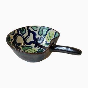 Ceramic Art Deco Bowl by Ingeborg Rasmussen, 1930s