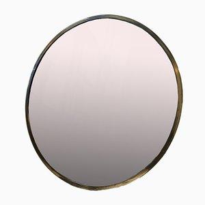Mid-Century Italian Round Mirror in Brass, 1950s