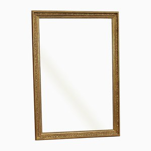 Large Rectangular Restoration Period Mirror in Gilt Wood, Early 19th Century