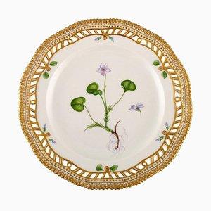 Royal Copenhagen Flora Danica Openwork Plate in Hand-Painted Porcelain