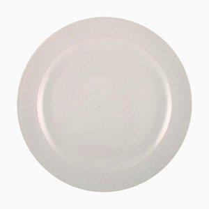 Royal Copenhagen White Salto Service Large Round Serving Dish by Axel Salto, 1962