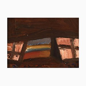 Benni Andersson, Sweden, Oil on Board, Abstract Composition, 1960s