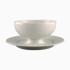 Royal Copenhagen White Salto Service Sauce Bowl by Axel Salto, 1960s