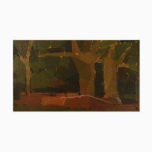 Ebbe Eberhardson B., 1927, Schweden, Öl auf Karton, Landschaft, 1960er