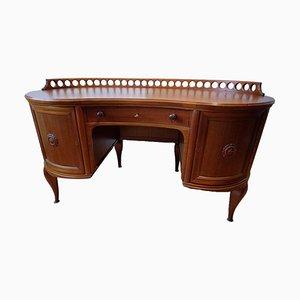 Art Deco Solid Wood Desk, 1920s