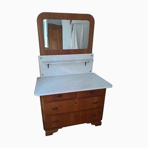 Antique Mirror and Commode with Marble Top