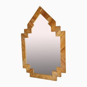 Espejo de bambú de Vivai Del Sud, años 70