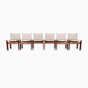 Canvas Monk Stühle von Afra und Tobia Scarpa für Molteni, 1970er, 6er Set
