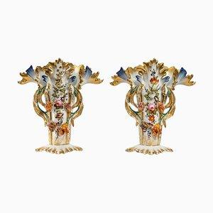 Paris Porcelain Vases, Set of 2