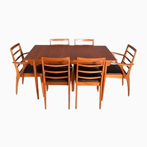 Teak Extending Table & 6 Chairs from McIntosh, 1960s, Set of 7
