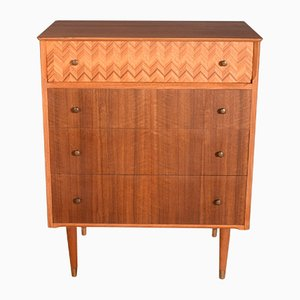 Ash & Walnut Chest of Drawers from Uniflex, 1960s