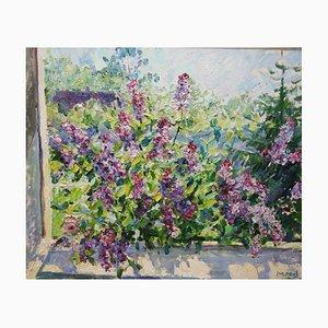 Georgij Moroz, Lilac Purple, Violet, Flowers, Oil on Canvas, 2008